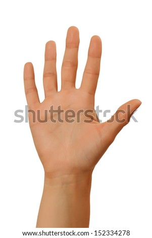 hand signal isolated on white background