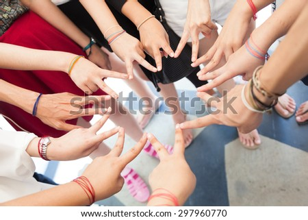 Hand soldering is a star. Collaboration soldering team is the star. - stock photo