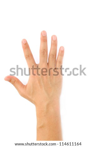 Hand Symbol with isolated white background