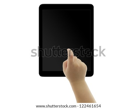 hand tablet - stock photo