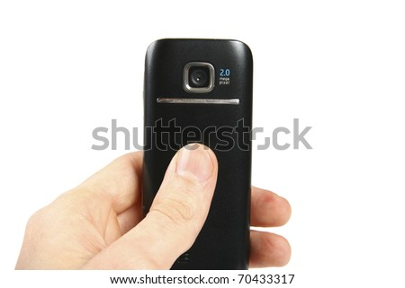 hand taking picture with mobile phone