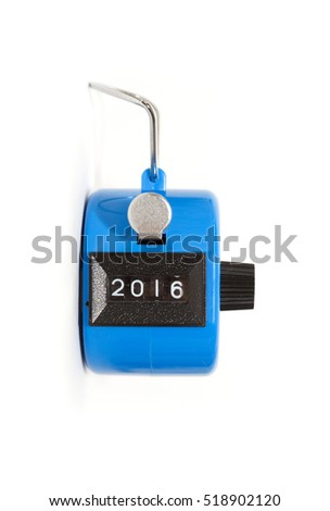 hand tally - concept of year 2016
