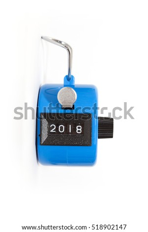 hand tally - concept of year 2018