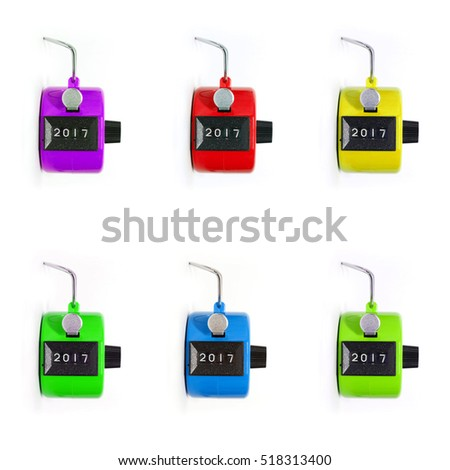 hand tally - set of 6 with different colors