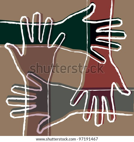 hand teamwork - stock photo