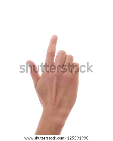 Hand, the index finger - stock photo