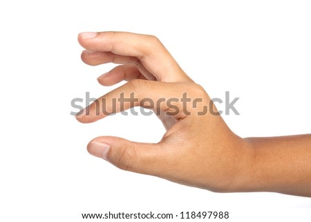 hand to hold  isolated on white background - stock photo