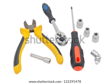 Hand tools isolated on white background