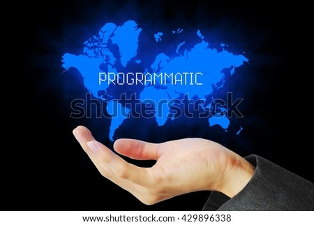 hand touch programmatic  technology background