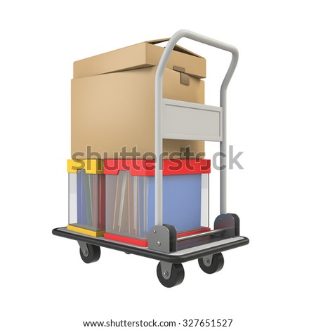 Hand truck carrying the luggage
