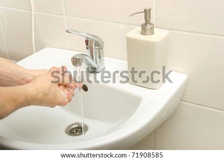 hand washing - stock photo