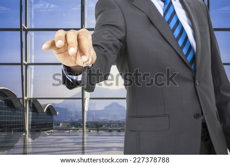 Hand with a Car keys.  - stock photo