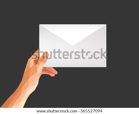 hand with envelope