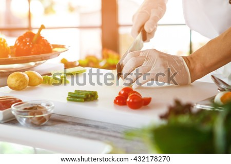 Restaurant Kitchen Gloves kitchen glove stock images, royalty-free images & vectors