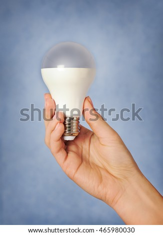 hand with led lamp