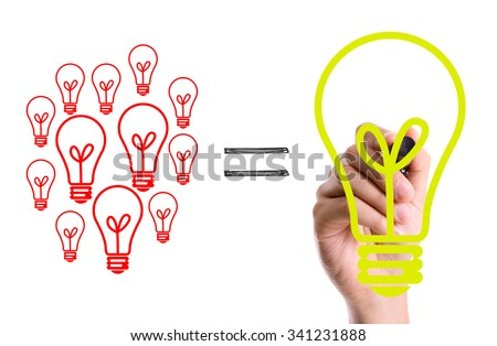 Hand with marker writing: Big Idea Concept - stock photo