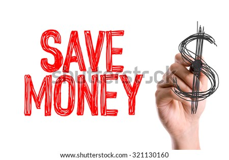 Hand with marker writing: Save Money - stock photo