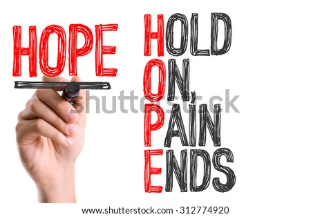 Hand with marker writing the word Hope Acronym - stock photo