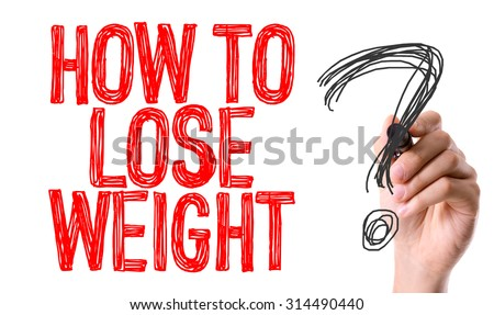 Hand with marker writing the word How To Lose Weight? - stock photo