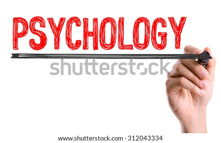 Hand with marker writing the word Psychology - stock photo