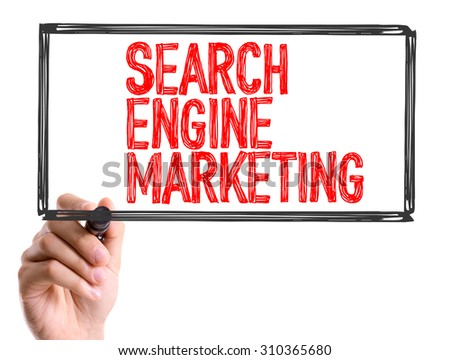 Hand with marker writing the word Search Engine Marketing - stock photo