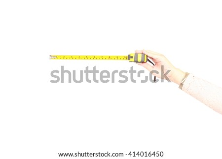 hand with measuring tape