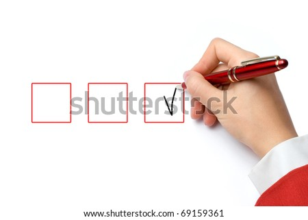hand with the pen business