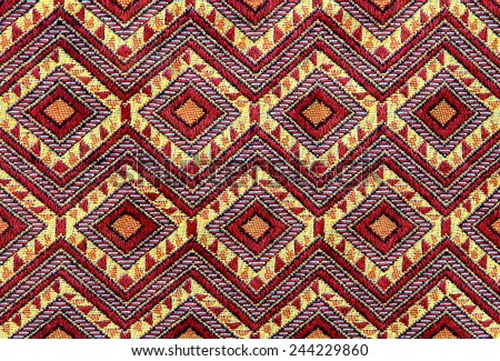 Hand woven handicraft patterned design is the art of Thailand, which has been widely used to make a variety of products. Elegant valuable.  - stock photo