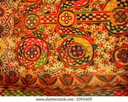 hand woven indian art - stock photo