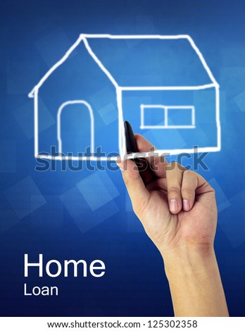 hand write home concept with text