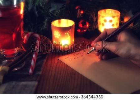 hand write wish year - stock photo
