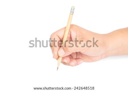 Hand writing - stock photo