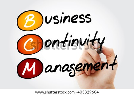 Hand writing BCM - Business Continuity Management with marker, acronym business concept - stock photo