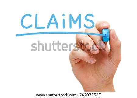 Claims in writing