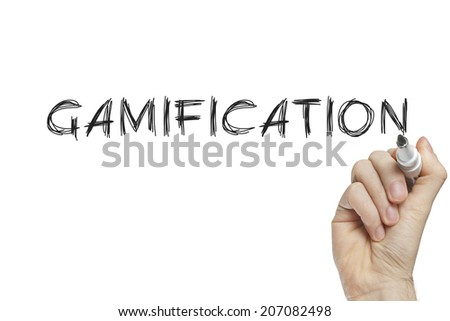 Hand writing gamification on a white board