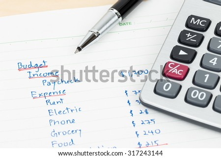 Family Budget Stock Images, Royalty-Free Images & Vectors