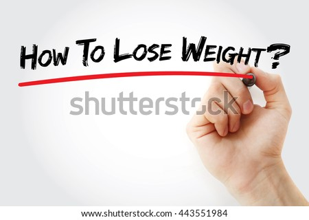 Hand writing How To Lose Weight? with marker, health concept background - stock photo