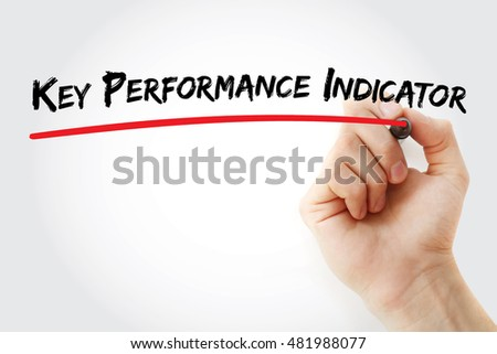 Hand writing Key performance indicator with marker, concept background