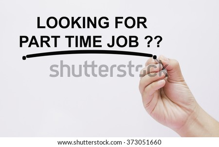 hand writing looking for part time job .