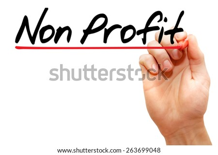 Hand writing Non Profit with marker, business concept - stock photo