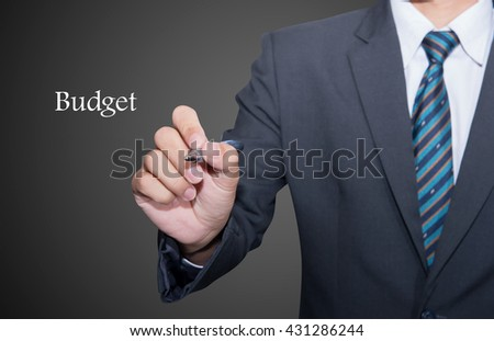 Hand writing Obesity, View from above. - stock photo