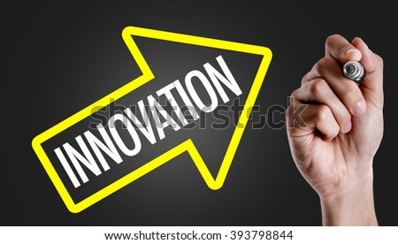 Hand writing the text: Innovation - stock photo