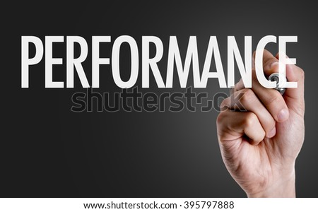 Hand writing the text: Performance - stock photo