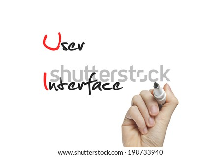Hand writing user interface on a white board