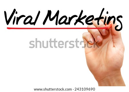 Hand writing Viral Marketing with marker, business concept - stock photo
