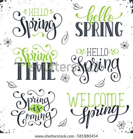 Spring Time Hand Lettering Banque d'images, d'images et d'images ...