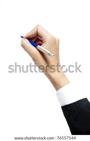 Hand writting on transparent glass. Space to insert text - stock photo