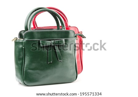 Handbag isolated white background