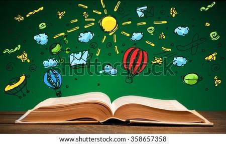 Handbook. - stock photo