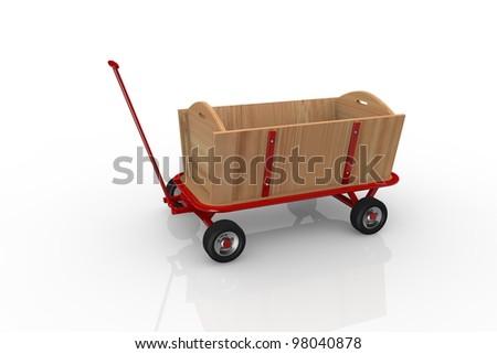 Handcart - stock photo